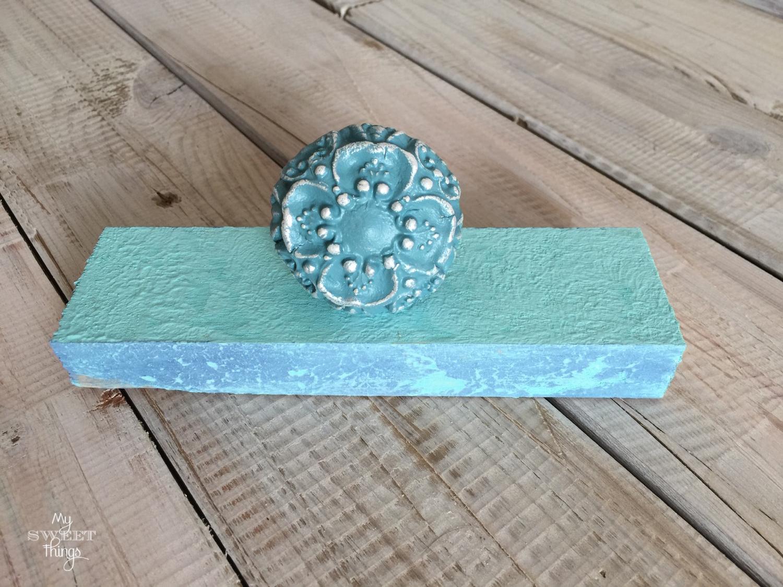 Pomo o tirador con molde IOD · Materiales para manualidades y DIY · Vía www.sweethings.net