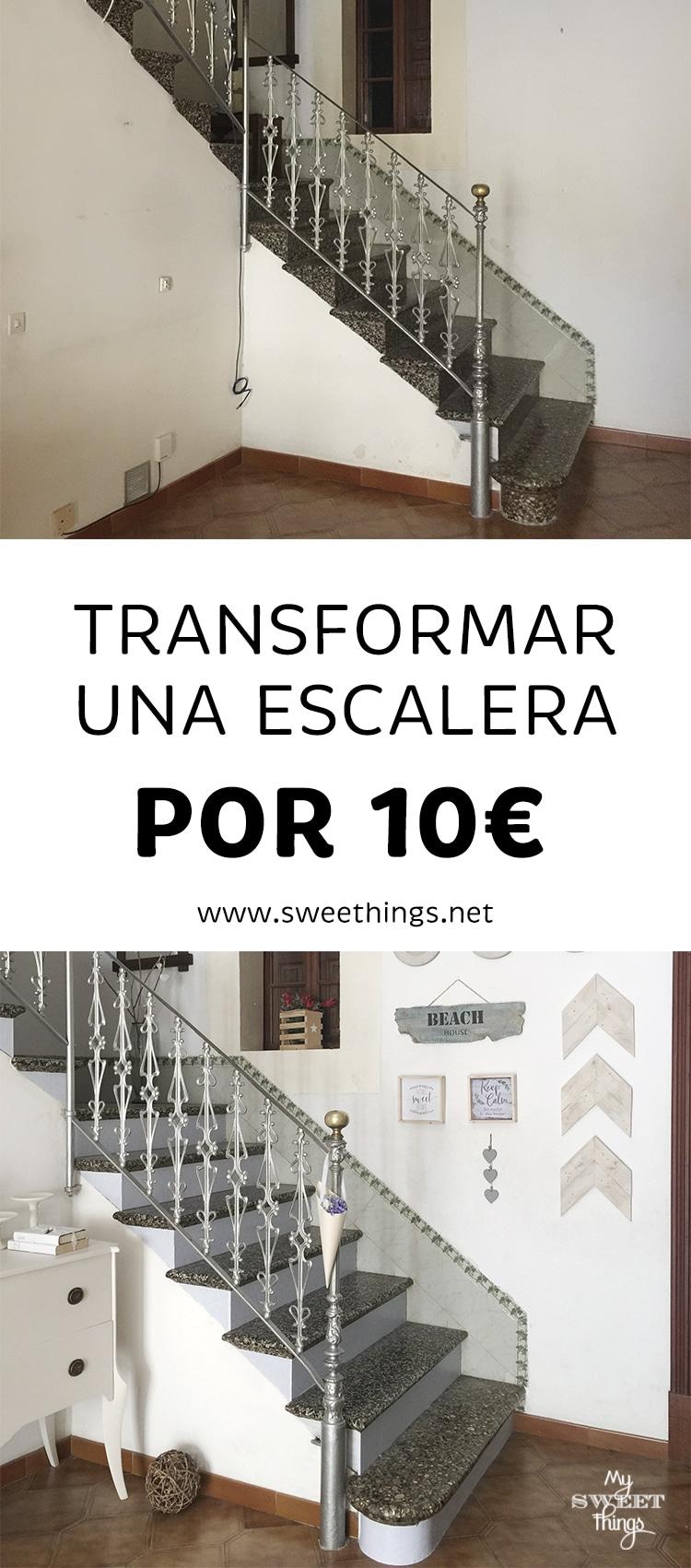 Como transformar una escalera por 10€ · Via www.sweethings.net