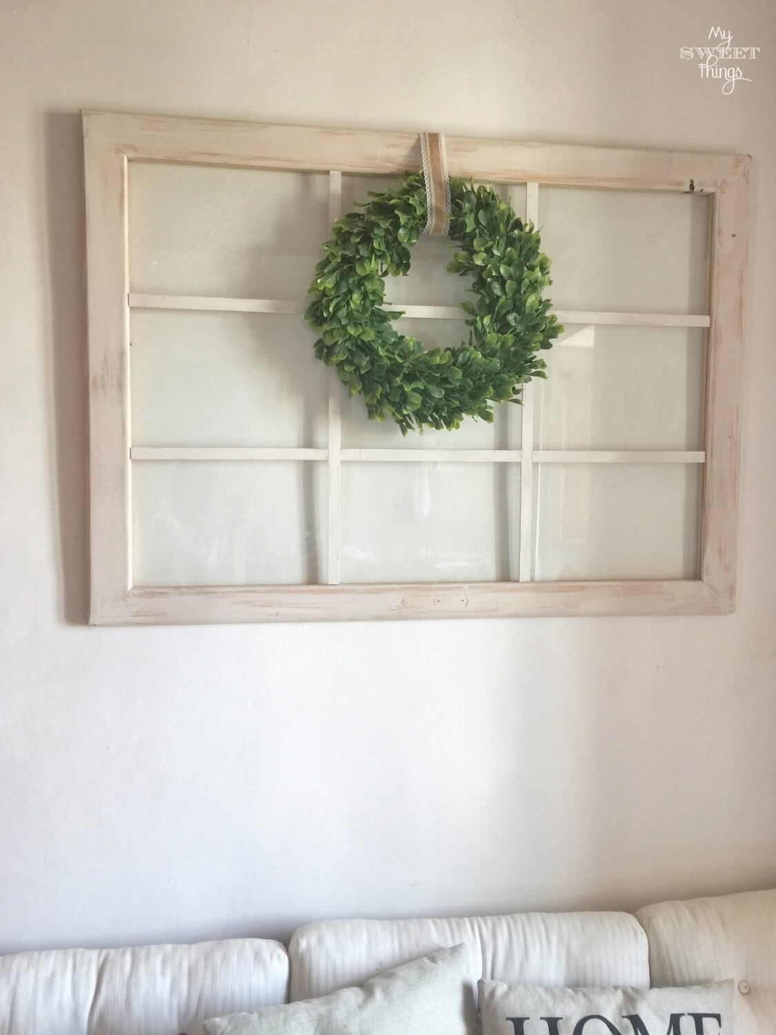 Old window repurposed into home decor · Via www.seethings.net