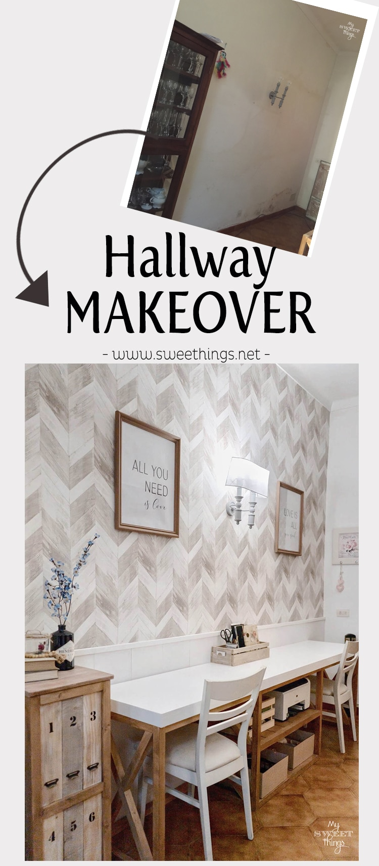 Hallway makeover on a budget · Via www.sweethings.net