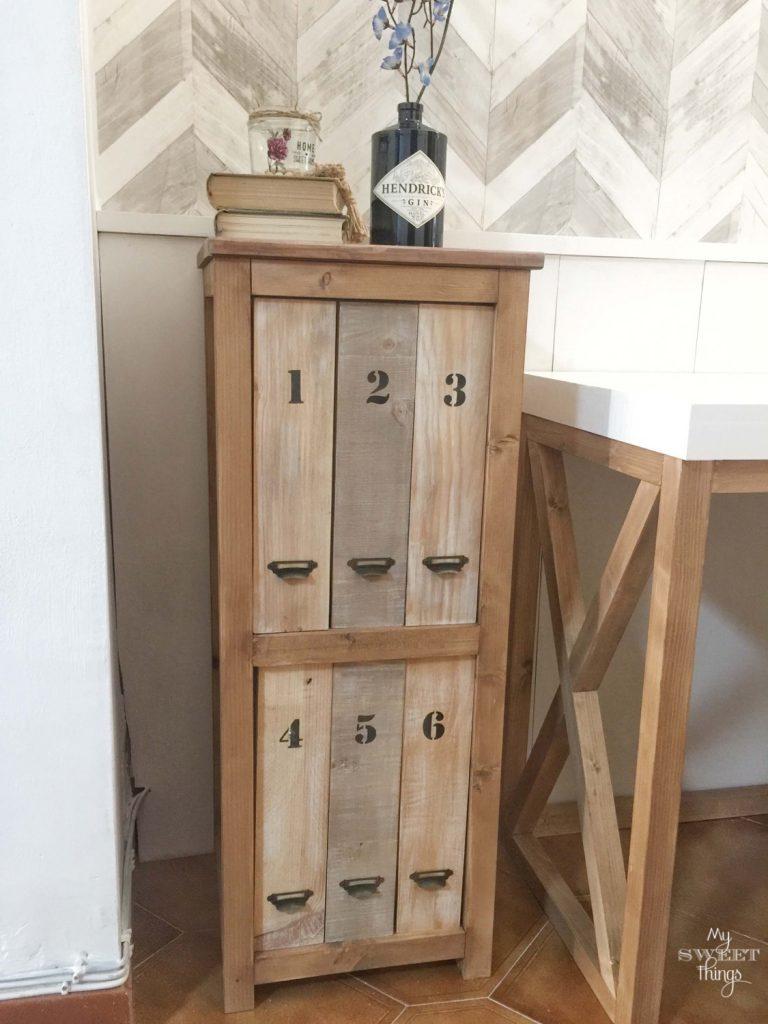 DIY filing cabinet unit · Via www.sweethings.net